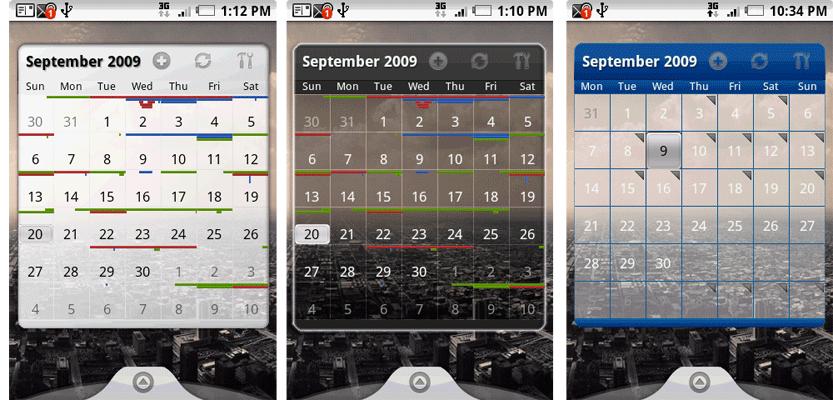 Pure Calendar Widget